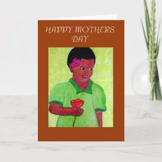 Black Girl African Art_Happy Mothers Day Cards card