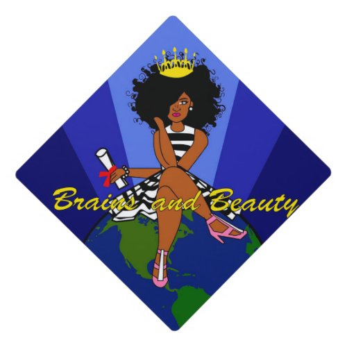 Black Girl _ Brains and Beauty Tassel Topper
