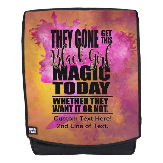 Black Girl Magic Affirmation Backpack  cc444bede3bb9