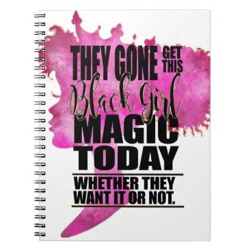 MelaninBerryBeauties Black Girl Magic Affirmation Notebook