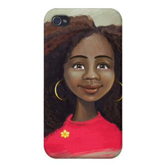 Black girl portrait iPhone 4 case
