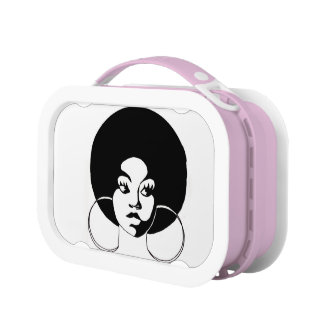 Black Girl with Afro Lunchbox