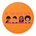 Black Girls Be The Best You Ceramic Knob