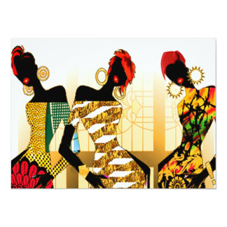 Black Girls Rock 5.5x7.5 Paper Invitation Card