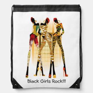 Black Girls Rock Drawstring Backpack
