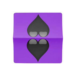 Black Glass Heart Customizable Checkbook Cover