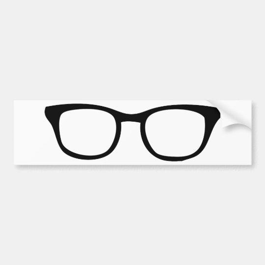 black glasses icon bumper sticker