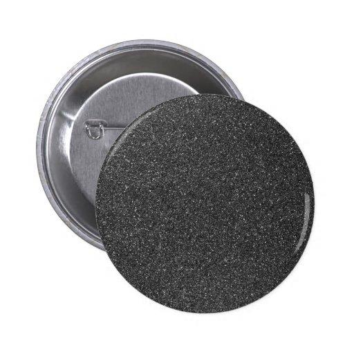 Black Glitter 2 Inch Round Button