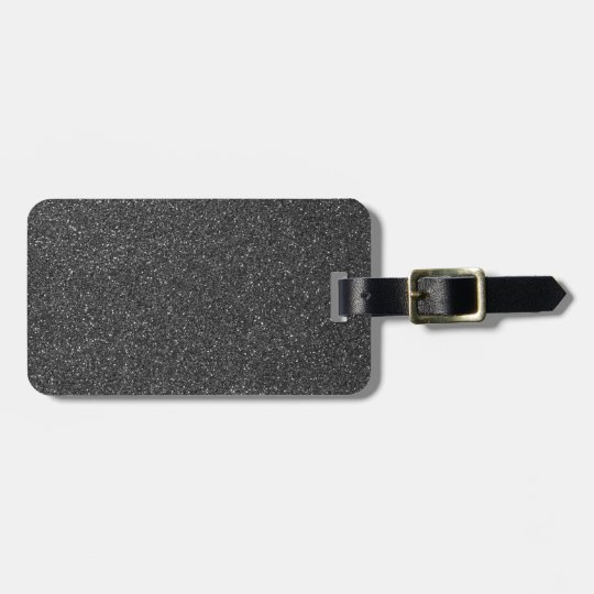 Black Glitter Bag Tag