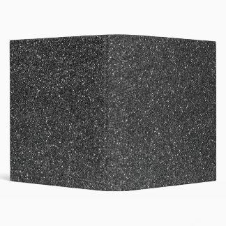 Black Glitter Binder