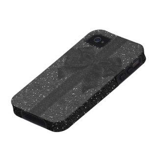 Black Glitter & Bow iPhone 4/4S Case