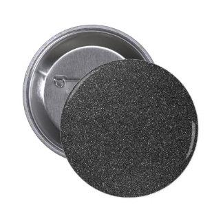 Black Glitter Button
