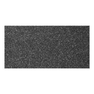 Black Glitter Card