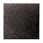 Black glitter ceramic tile