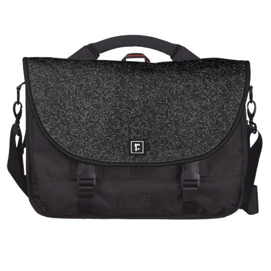 Black Glitter Commuter Bags