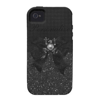 Black Glitter, Frog & Bow iPhone 4/4S Case