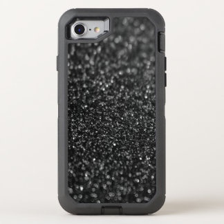 Black Glitter Glamour OtterBox Defender iPhone 7 Case