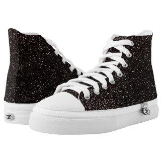 Black glitter High-Top sneakers