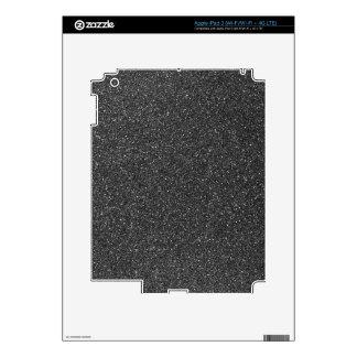 Black Glitter iPad 3 Skin