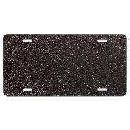 Black glitter license plate at Zazzle
