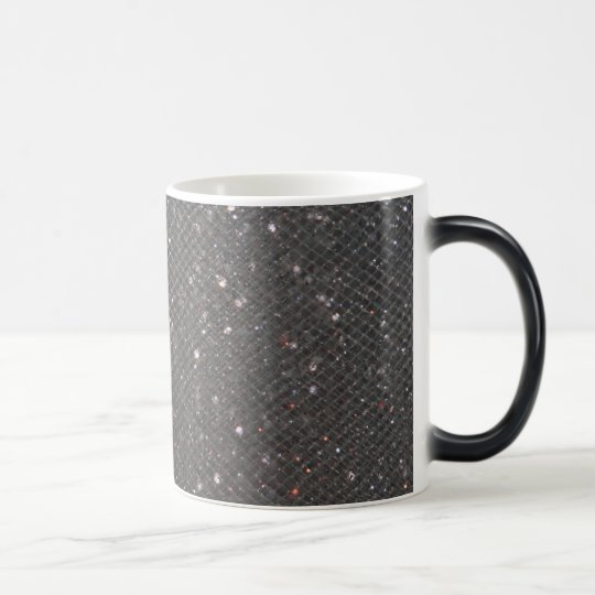 Black Glitter Magic Mug