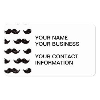 Black Glitter Mustache Pattern Printed Business Card