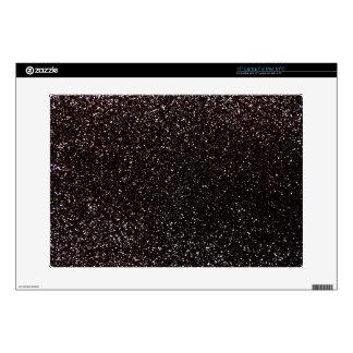 Black glitter laptop skin