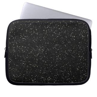 Black Glitter Sparkle Graphic Art Pattern Design Computer Sleeve