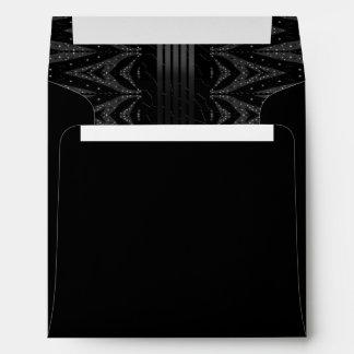Black Glitter Stars Envelope