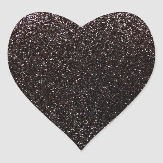 Black glitter stickers