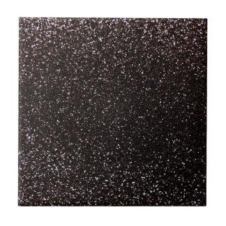 Black glitter tile