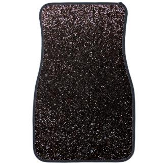 Black glitter floor mat