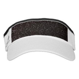 Black glitter headsweats visors