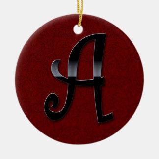 Black Gloss Monogram - A Ceramic Ornament