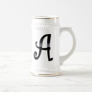 Black Gloss Monogram - A Coffee Mug