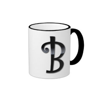 Black Gloss Monogram - B Coffee Mug
