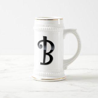 Black Gloss Monogram - B Mugs
