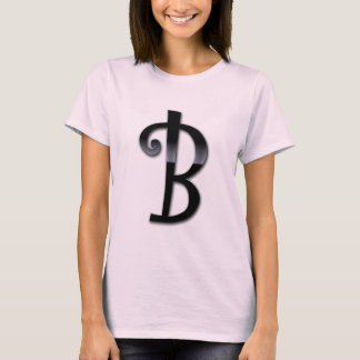Black Gloss Monogram - B T-Shirt