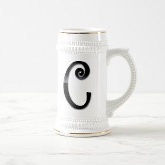 Black Gloss Monogram - C Coffee Mug