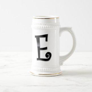 Black Gloss Monogram - E Mug