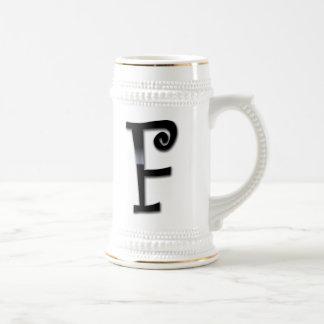 Black Gloss Monogram - F Mugs