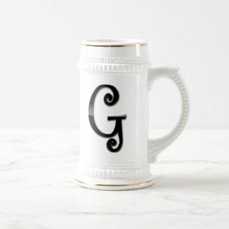 Black Gloss Monogram - G Mug
