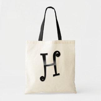 Black Gloss Monogram - H Canvas Bag