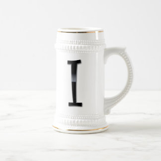 Black Gloss Monogram - I Mug