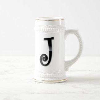 Black Gloss Monogram - J Coffee Mug