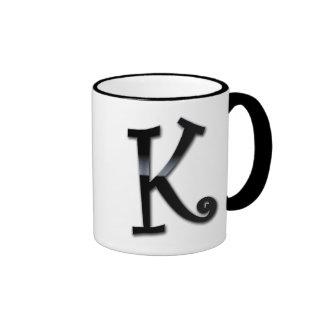 Black Gloss Monogram - K Mugs
