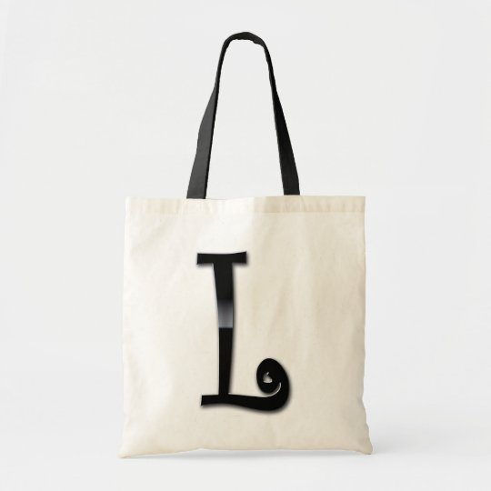 Black Gloss Monogram - L Tote Bag
