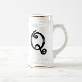 Black Gloss Monogram - Q Beer Stein