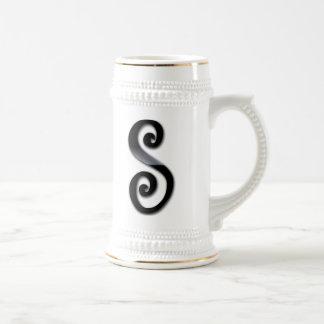 Black Gloss Monogram - S Coffee Mug