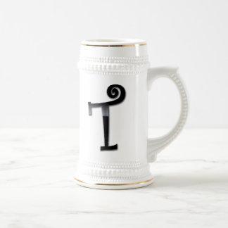 Black Gloss Monogram - T Mug